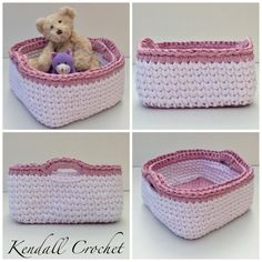 Crochet Baskets 2 Square by KendallCrochet on Etsy