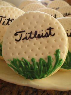 Diaper party Golf Cookies