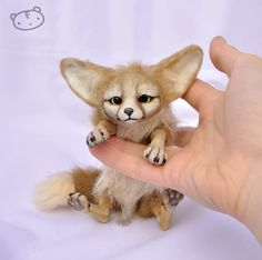 Little fennec fox (size comparison) by LisaToms.deviantart.com on @deviantART