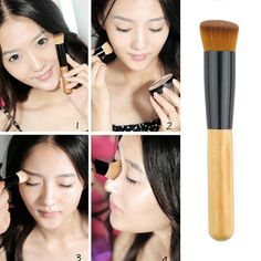 Check out Professional Soft... our newest products here!! http://asiaskinproducts.com/products/professional-soft-fiber-angled-flat-top-foundation-powder-brush-cosmetic   #health #beauty #antiaging #diet