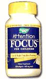 Natures Way Attention Focus for Children 120 softgels $12