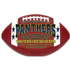 Best Coach Gifts - Thank You Coach - Football Wooden Plaque sports Football Coach Gifts, Football Stuff, Football Banquet, Team Mom, Wooden Plaques, Panthers, Porsche Logo, Personalized Gifts, Handmade Gifts