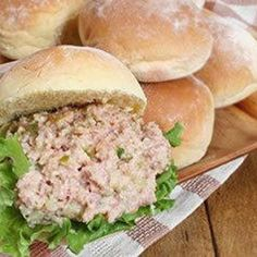 Ham Salad Sandwiches Recipe easter-leftover-ham-lamb-egg-recipes margetmkd chelseamdb into-the-cooking-pan Sandwich Fillings, Salad Sandwich, Soup And Sandwich, Sandwich Recipes, Sandwich Spread, Meat Sandwich, Sandwich Ideas, Ham Salad Recipes, Egg Recipes