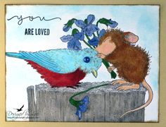 Entered in the HMFMC187 House Mouse February Challenge:  Love is in the Air.