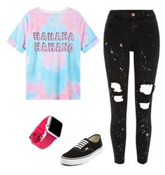 """✝️♒️🆎🚺1️⃣3️⃣"" by heyitskayden ❤ liked on Polyvore featuring River Island and Vans"