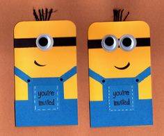 Minion Invitations 10pk by BongelBlessings on Etsy, $35.00