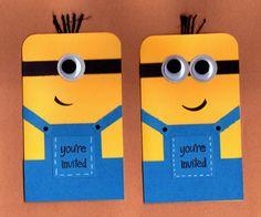 Minion Invitations 10pk by BongelBlessings on Etsy, $35.00