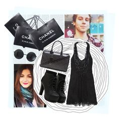"""Shopping w/ Luke"" by haroldamore ❤ liked on Polyvore featuring Chanel, Isabel Marant, Yves Saint Laurent, allblack, victoriajustice and lukehemmings"