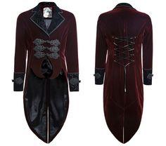 Red Velvet Tailcoat from Punk Rave Y-635 | Pixieknix