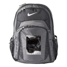 Russian Blue Kitty Kitten Cat Animal Pet Grey Nike Backpack - cat cats kitten kitty pet love pussy