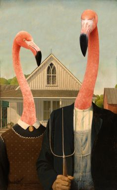 American Gothic flamingos. ❣Julianne McPeters❣ no pin limits