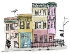 I grew up down the block from these houses. Prospect Park SW and Greenwood Ave in the Windsor Terrace neighborhood. ( Brooklyn). They are directly across the street from Prospect Park.