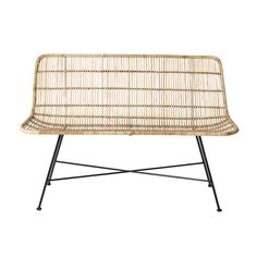 Lovely lounging rattan sofa from Danish brand Bloomingville. The sofa has beautiful round shapes and is very firmly by the strong rattan. Nice to combine w White Wicker Furniture, Wicker Couch, Wicker Headboard, Wicker Shelf, Wicker Tray, Rattan Sofa, Wicker Table, Bench Furniture, Outdoor Furniture