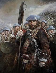 Blue Bonnets by Chris Collingwood Scottish Warrior, Celtic Clothing, Scottish Culture, Scotland History, Celtic Warriors, Blue Bonnets, Men In Kilts, Scottish Castles, Canvas Art
