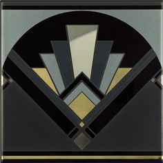 Art Deco Fan Tile Black Fan With real Platinum and Gold on Bril… – Art Deco Interior Casa Art Deco, Motif Art Deco, Art Deco Decor, Art Nouveau Tiles, Art Deco Home, Art Deco Design, Art Deco Borders, Art Deco Artwork, Muebles Art Deco