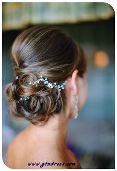 wedding hair done low