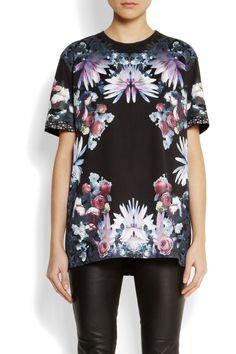 Givenchy Floral-print cotton-jersey T-shirt  NET-A-PORTER.COM