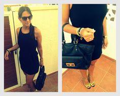 vestido negro y espalda encaje by sandro