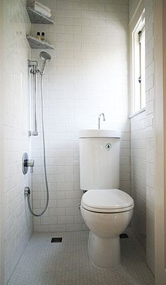 What do you think of this 3/4 bath? Talk about a small bathroom solution.