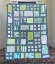 Materials: -Coordinating 2 1/2 Jelly Roll Strips -12 Blocks  *See The Hannah Block Tutorial for creating a single block*