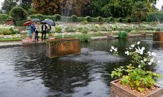 Kate, William and Harry toured the garden on the grounds of Kensington Palace on August 30.