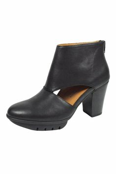 "Soft leather bootie with a leather linedvery padded foot bed that gives extreme comfort throughout the day. Heel height measures approximately 3.5"" Lamour Despieds Enriqua by L'Amour Des Pieds. Pennsylvania"