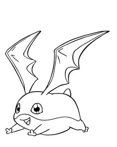 Patamon Digimon Coloring Pages