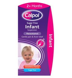 Calpol Infant Sugar Free Oral Suspension Strawberry Flavour 2+ Months 100ml