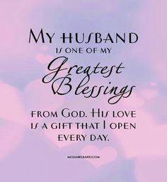 And I am forever thankful, 30 yrs. together & many trials but with God we stand strong,united.