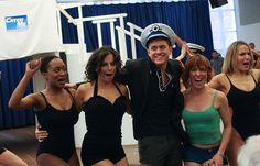 "Aaron Tveit Photo - ""Catch Me If You Can"" Broadway Rehearsal Sneak Peek. His face. hahaha"