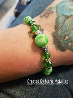 Emerald Green Beaded Bracelet