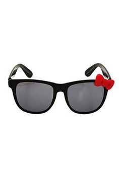1349e95ac3 Hello Kitty Black Red Bow Sunglasses from HotTopic - I want these! Retro  Sunglasses