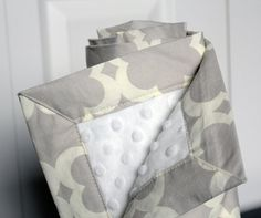 Baby Blanket Grey and White $36.00