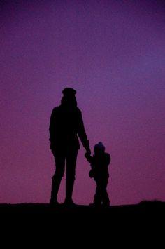 #purple sky #silhouette