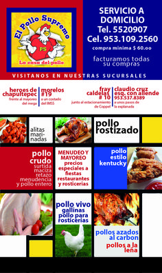 Rosticerías y pollerías en Tlaxiaco.