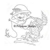 Primrose Design   Vintage   Embroidery Pattern   Kitten Capers