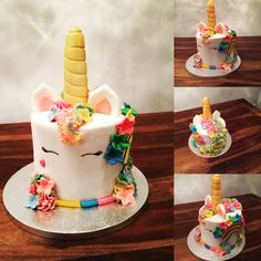 Unicorn Love cakes