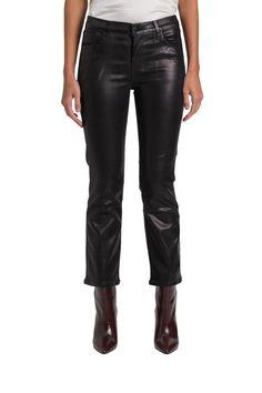 J Brand Pantalone Selena Mid Rise Crop Boot Guinea Bissau, Kazakhstan, Fashion Branding, J Brand, Laos, World Of Fashion, Selena, Leather Pants, Swimwear