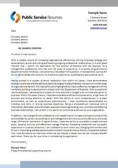 public service cover letters