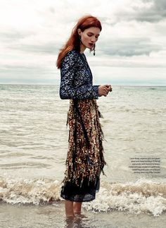 message in a bottle: kristin zakala by owen bruce for elle canada december 2015   visual optimism; fashion editorials, shows, campaigns & more! #fashioneditorials,