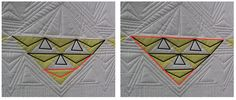 Dot to Dot machine quilting tutorial: How to quilt triangle shaped blocks and large areas of negative space.