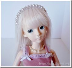 Doll size pearl head band