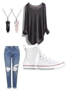 """""""Untitled #1"""" by madisonbanks on Polyvore featuring Converse, Topshop and Bling Jewelry"""