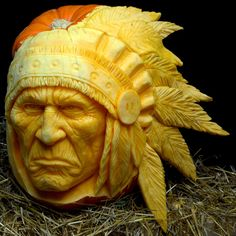 Amazing Halloween Jack O'Lantern pumpkins carved by Ray Villafane.