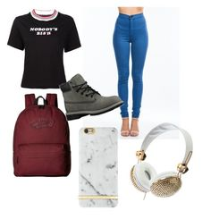 """""""008."""" by sootrinity ❤ liked on Polyvore featuring UNIF, Vans, Timberland and Richmond & Finch"""