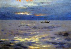 The Athenaeum - Atlantic Sunset (John Singer Sargent - )