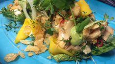 Skrei med grillet hjertesalat og avokadokrem