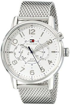 Men's Tommy Hilfiger Camden Multi Function Stainless Steel  Silver Watch 1791087