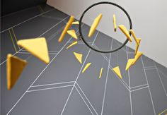 DIY Yellow Triangle Mobile