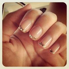 Glitter French Tips for your wedding